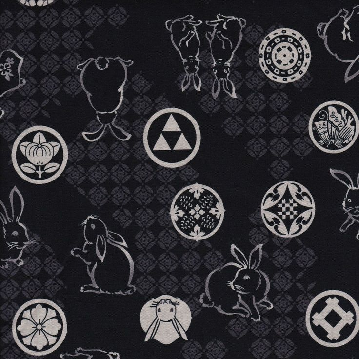 Distinctive Sewing Supplies - Wagara Japanese Rabbit Cotton Print - Black , $10.00 (http://www.distinctivesewing.com/wagara-japanese-rabbit-cotton-print-black/)