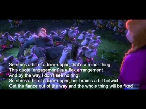 Frozen Fixer Upper lyric video