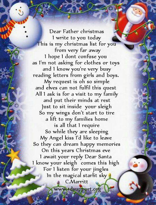Dear Santa | Poems beautiful, Dear santa, Special day