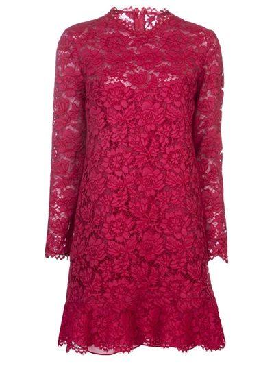 VALENTINO Ruffled Lace Dress