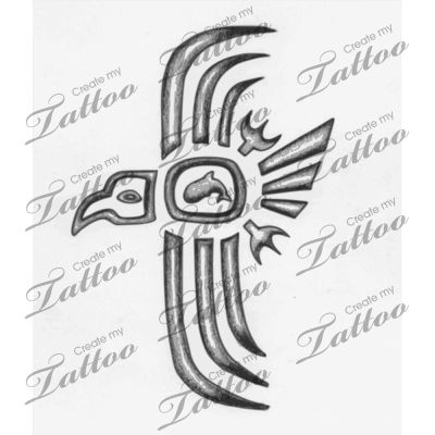 Cherokee Indian Symbols | Cherokee Thunderbird 2 Createmytattoocom