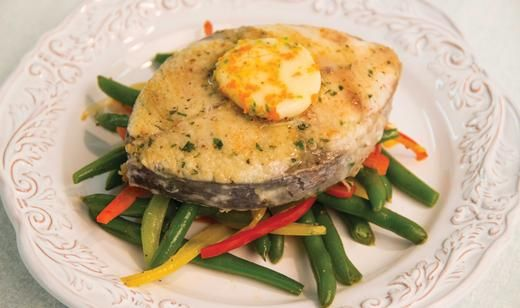 Florida King Mackerel Steaks with Herb Citrus Butter and Garlic Snap Beans / Entrees / Recipes / Home - Florida Department of Agriculture & Consumer Services