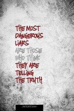 Once a liar always a liar