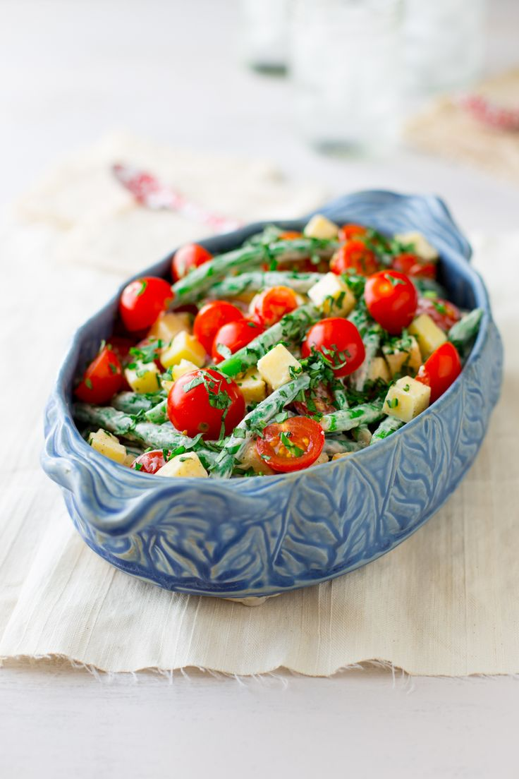 Green Bean Cherry Tomato and Cheddar Salad - What is not to love about ...