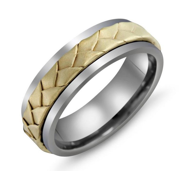 Malo Classic Collection 18 kt Yellow Gold Braid Mens Wedding Band #Malo