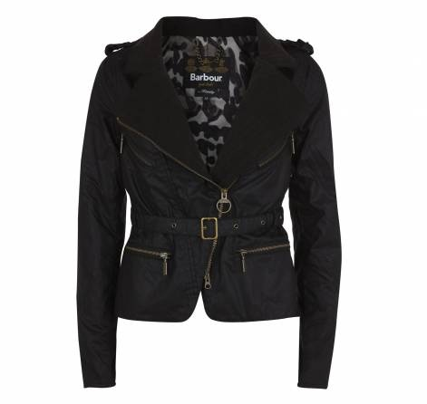 Lusting over this Barbour leather jacket.