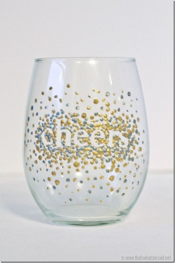 DIY Dot Wine Glasses!