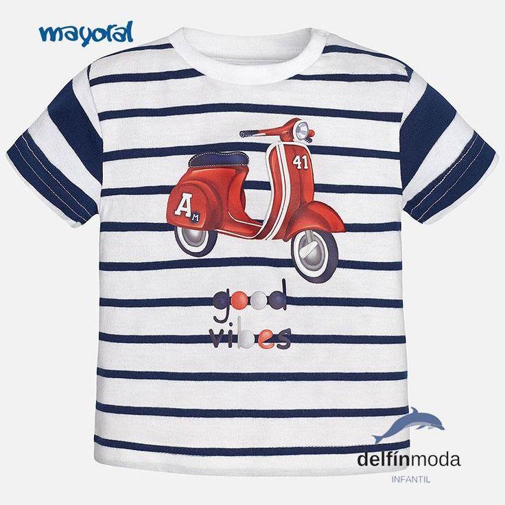 Camiseta niño de bebe MAYORAL manga corta  vespa