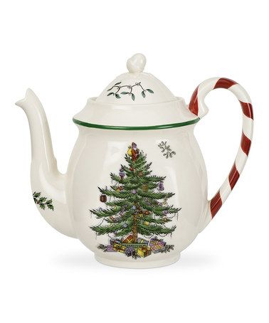Take a look at this Christmas Tree Peppermint Teapot by Spode on #zulily today!