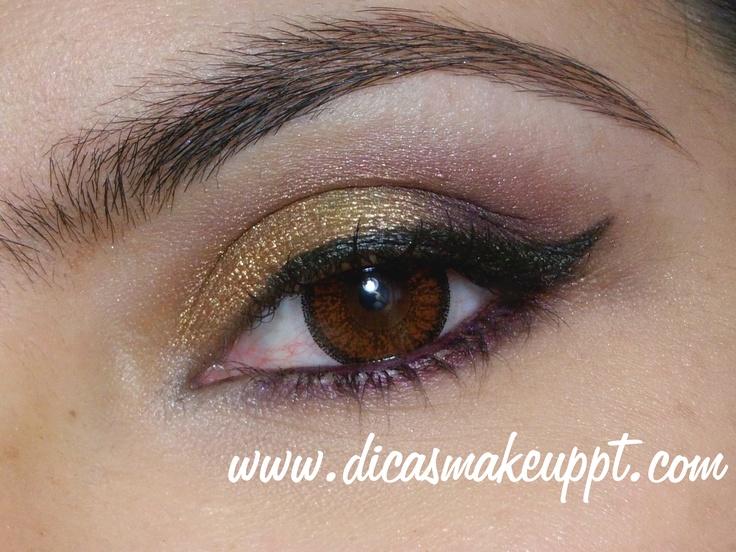 Purple and Gold Makeup  www.youtube.com/makeuppt  www.dicasmakeuppt.com
