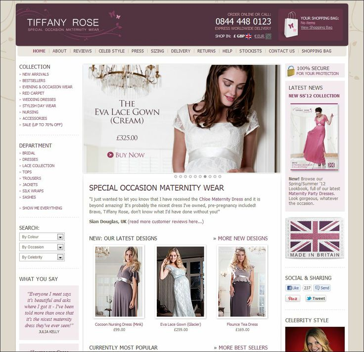 Tiffany Rose - Celebrity Maternity Style, Made in Britain.
