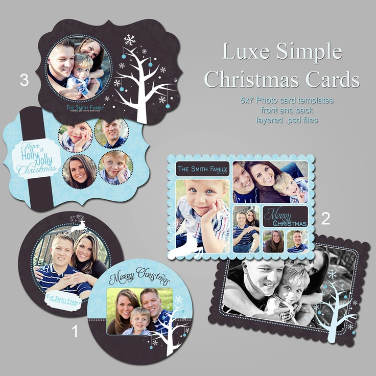 Best Holiday Cards Images On Pinterest Holiday Cards - Christmas card templates for photographers 2