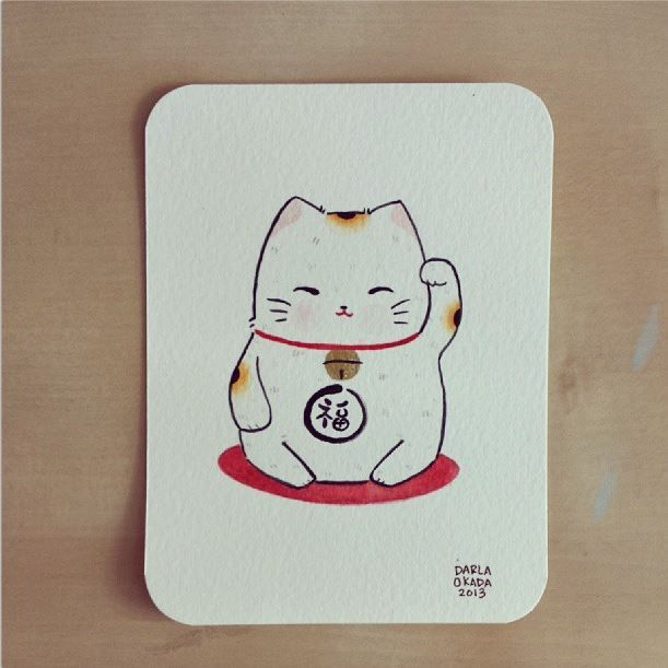 FrenchRuby [inspiration] | twoblackcatsstudio: Mini maneki neko...