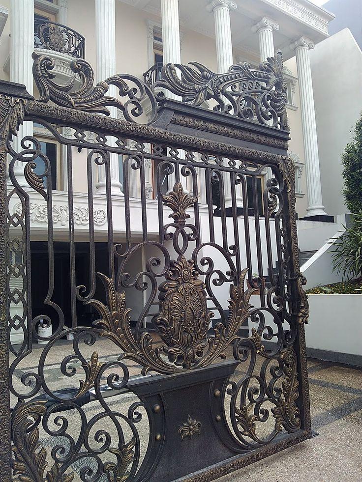 Pin oleh Anto Graficurl di PAGAR BESI TEMPA Pintu