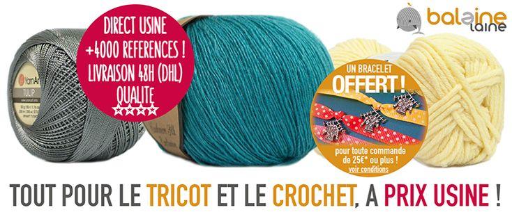 Laine discount, laine pas chère, aiguilles à tricoter, tricots, laine à tricoter, achat laine tricot, modèles tricot, crochet, coton à crochet discount