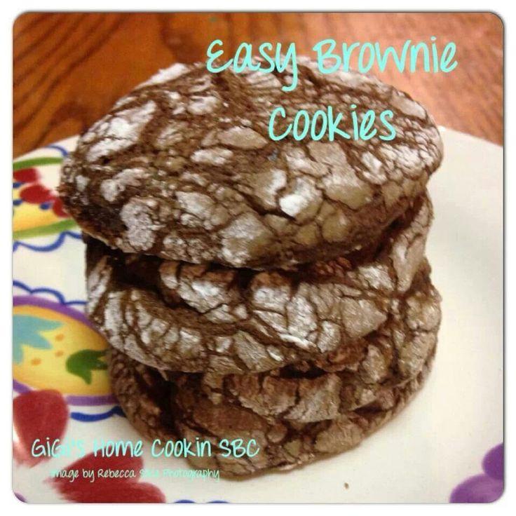 Easy Cookie Brownies   Christmas!   Pinterest