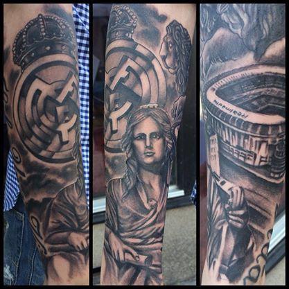 25 best soccer tattoos images on pinterest soccer for Real madrid tattoos