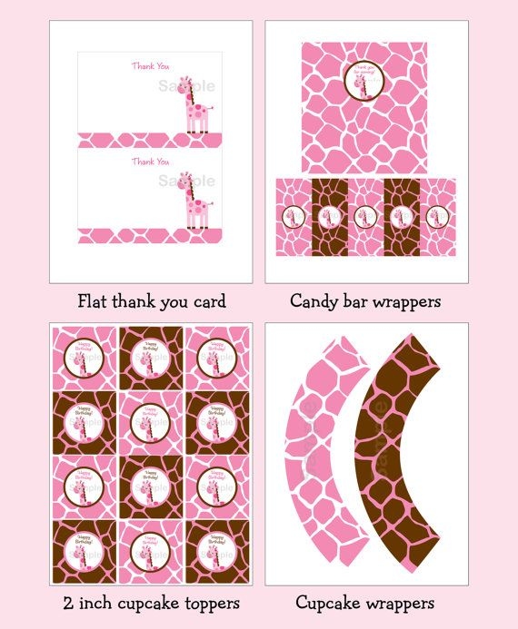 Hey, I found this really awesome Etsy listing at https://www.etsy.com/listing/124046570/pink-giraffe-birthday-party-pack-instant