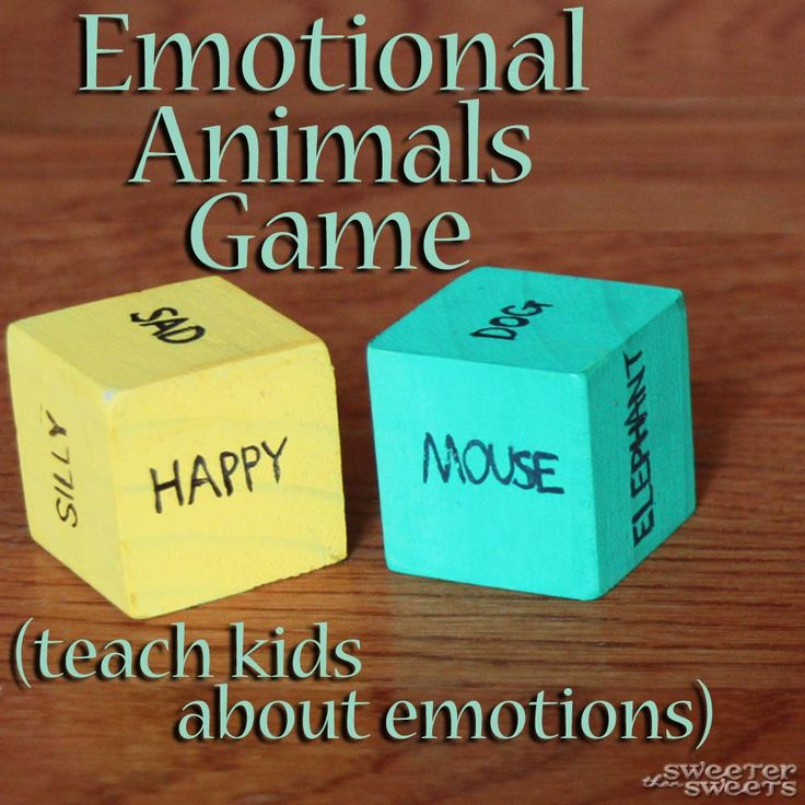 Emotional Animals Game-- emotions on one dice, animals on the other. Kids act out whatever they roll.