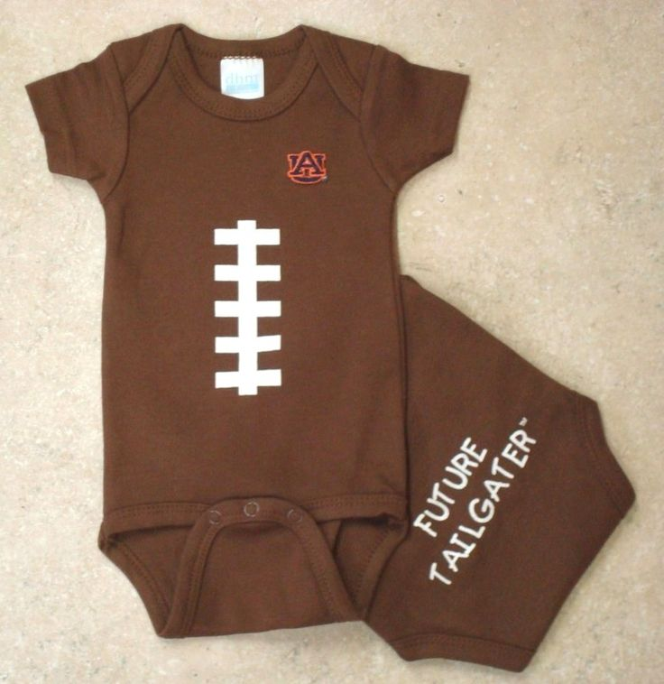 Get your little Auburn Tigers fan ready for football season with our Future Tailgater Football onesie, $16.99