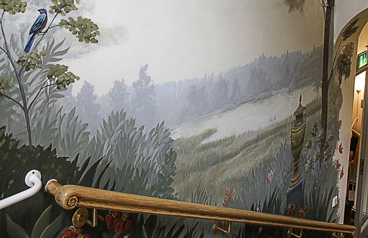Mural in Edsby Slott, Sweden