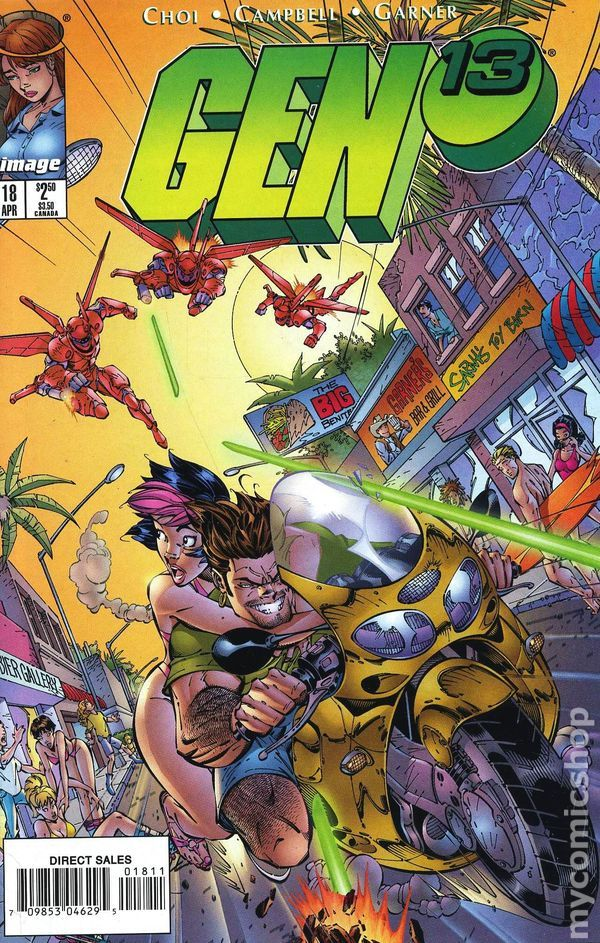 Gen 13 (1995 2nd Series) 18 Image Comics book covers Modern Age