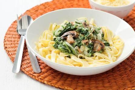 recept tagliatelle met spinazie roomsaus