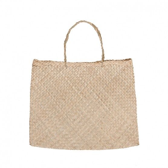 Basse Bag - A #seagrass #tote is one of the more versatile pieces you can own in the #basket/ #bag department. #Sturdy, #simple, #classic, we love the #Basse Bag. #woven #natural #bags