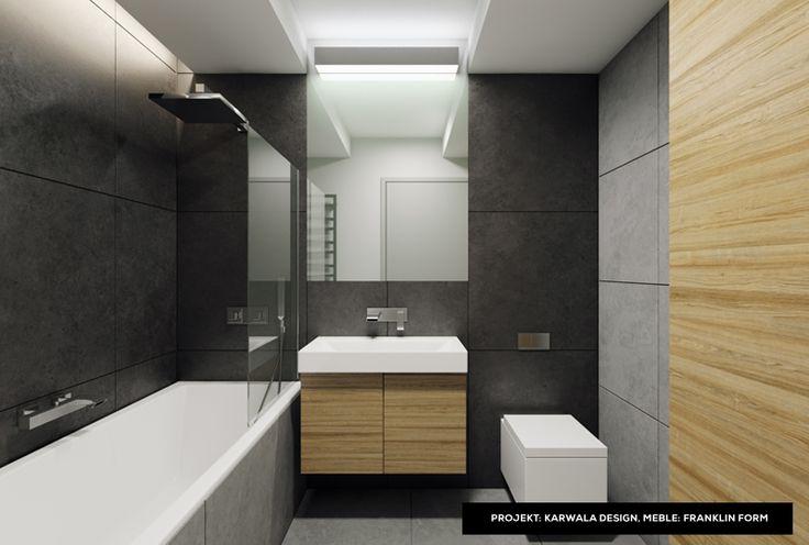 Wooden modular furniture - modern bathroom idea