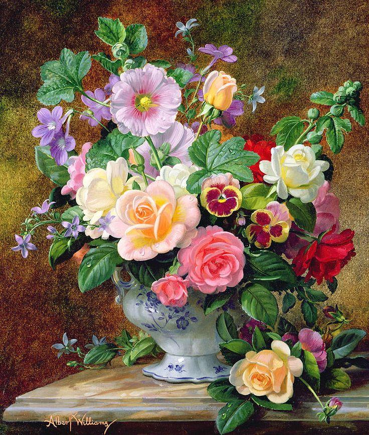 восхитительная картина с цветами тоже всё
