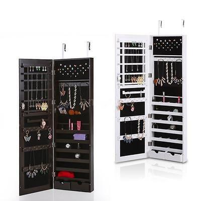 suspension bijoux armoire armoire bijoux bote de rangement avec miroir b3w3 - Miroir Range Bijoux