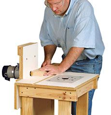 Neat idea, but need to be able to use without re mounting the router; Preview - A Versatile Router Table - Fine Woodworking Article