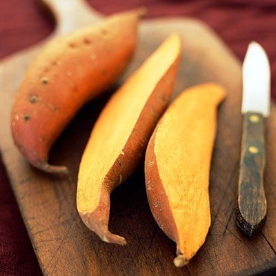 Sweet potatoes are POWER FOODS. They pack 438% of your daily value of vitamin A, 37% of C, and loads of calcium, potassium, and iron. As if you needed a reason to love 'em! | health.com