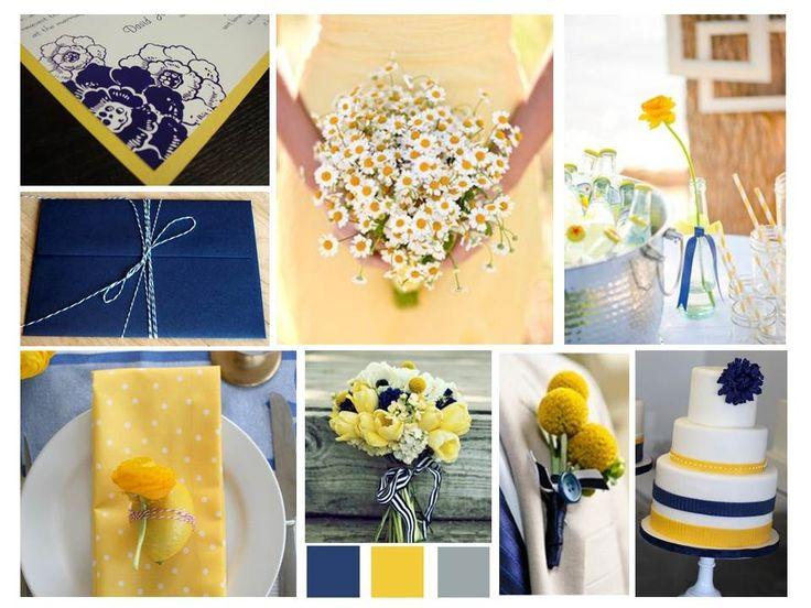 Navy and yellow wedding inspiration www.audreyandkay.wordpress.com