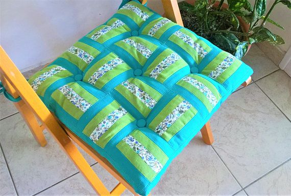 Turquoise outdoor chair pads chair cushions with ties