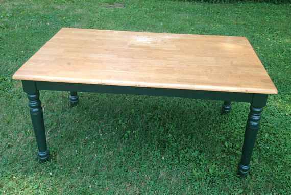 Vintage Oak Farm Table 5 Foot Table Chunky Leg Custom Etsy Farm Table Specialty Paints Vintage Table