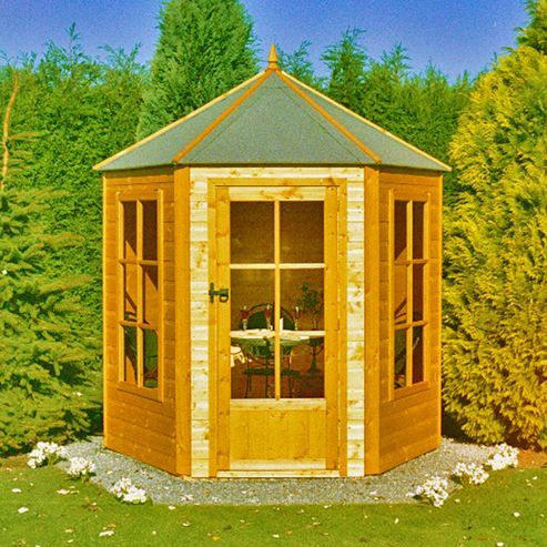 gazebo summerhouse 6x7 by finewood