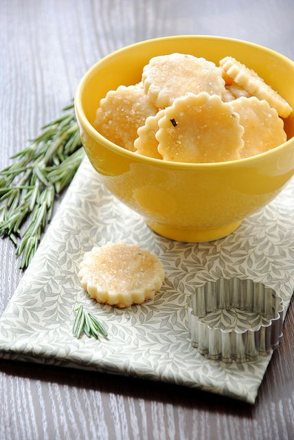 Cookies with rosemary and honey by letterberry, via Flickr