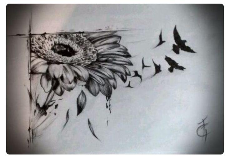 f77f11fd392d1f3e47d3032a342b6f97 gerbera daisy tattoo daisies tattoo