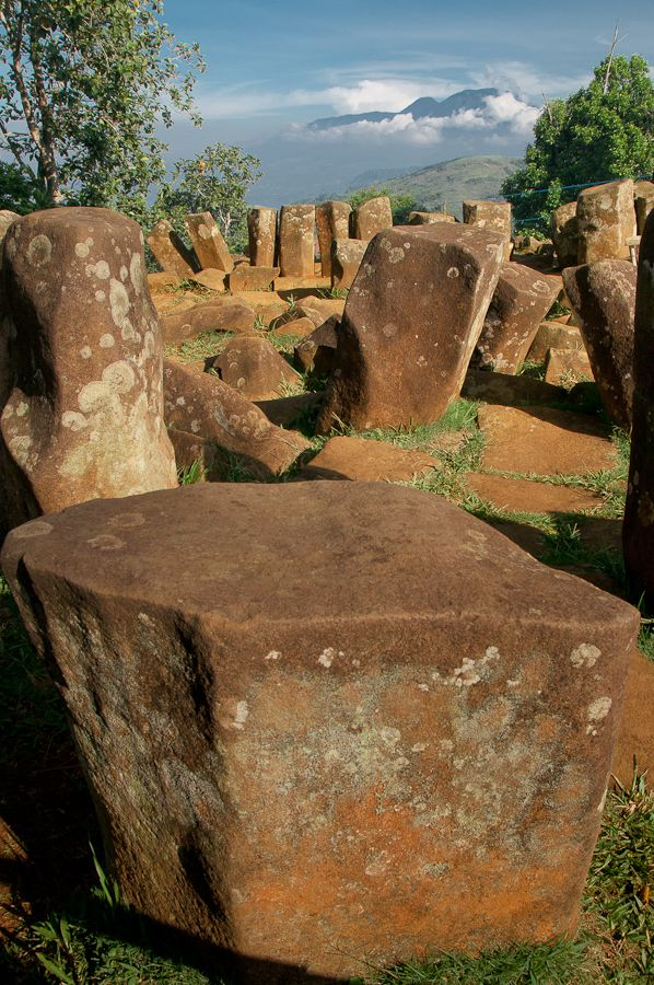 Megalithic site locate at cianjur west java, Indonesia. It is the largest…