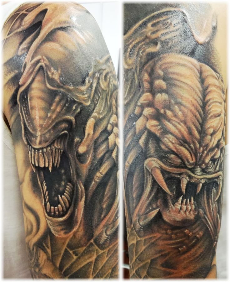 10 best images about alien vs predator tattoos on pinterest on back alien vs predator and. Black Bedroom Furniture Sets. Home Design Ideas