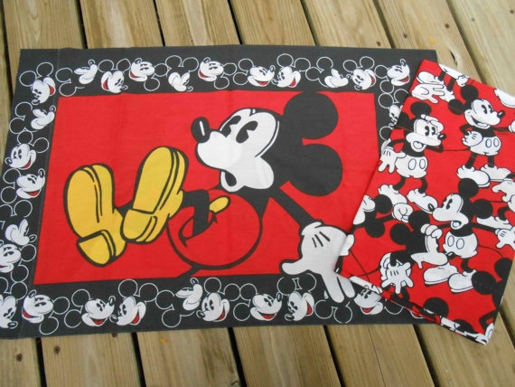 Mickey Mouse Curtain Valance and by perfectmomentpillows on Etsy, $20.00