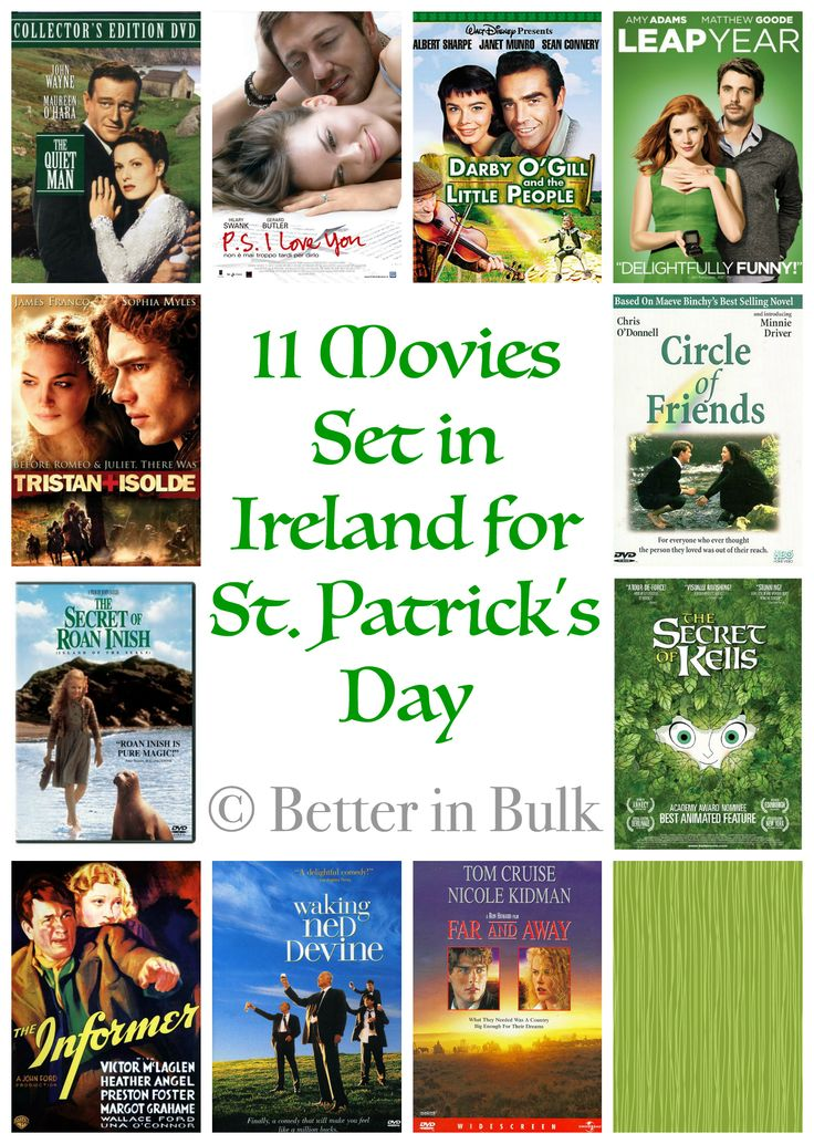 I've gathered a fun list of 11 Movies Set in Ireland For St. Patrick's Day, along with a round up of St. Patrick's Day entertainment posts from friends!