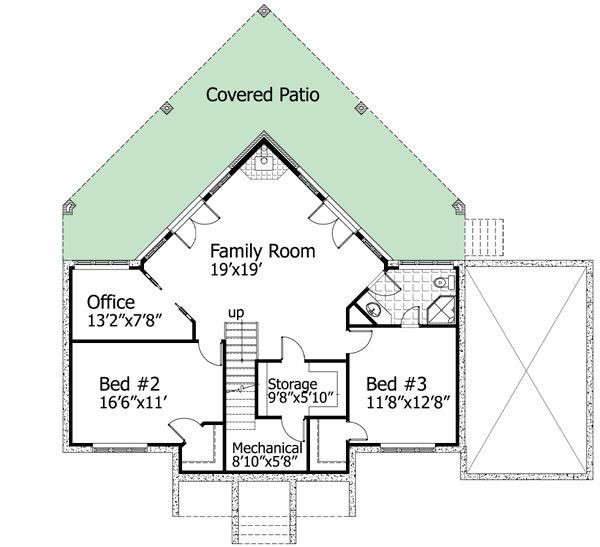 17 best images about drawings floor plans or elevations for Vacation house plans sloped lot