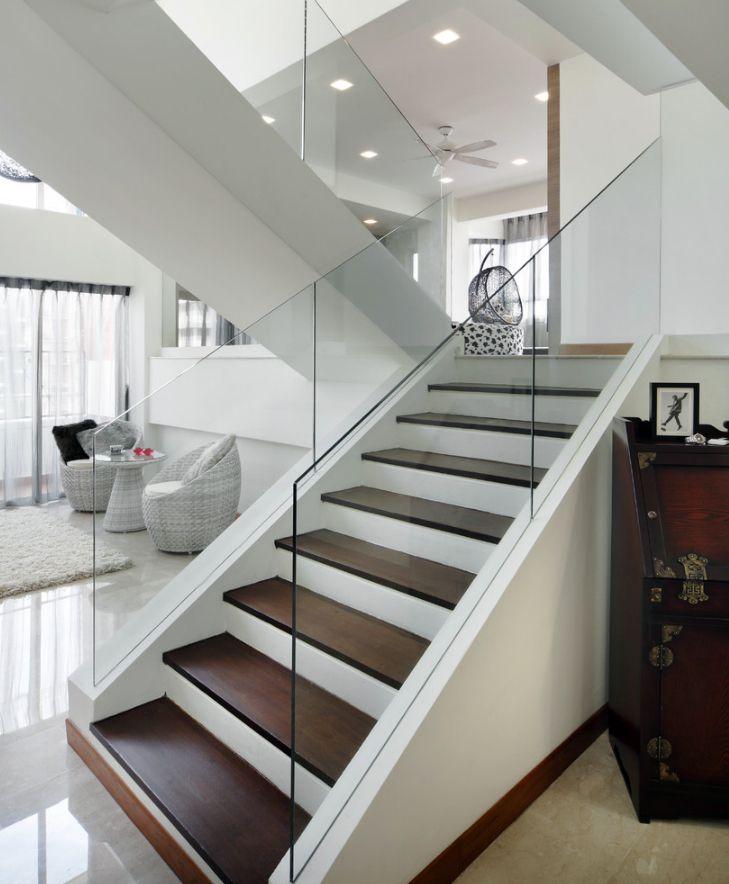 Glass Stair Railing Best Of Photos Modern Staircase 4 Staircase Pinterest Stairs Design Modern Modern Stairs Staircase Design