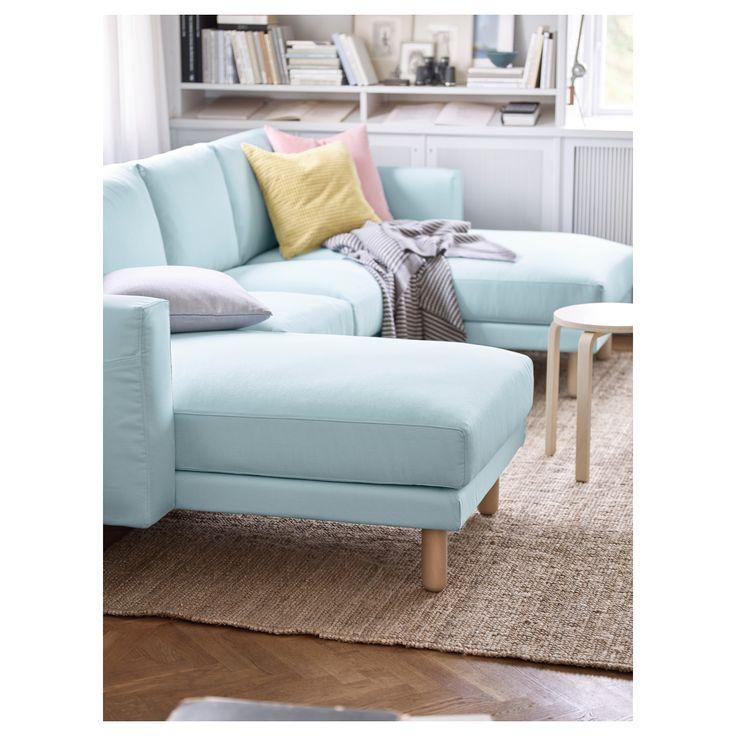 NORSBORG 2人掛けソファ 寝椅子2台付き - エードゥム ダークブルー, グレー - IKEA