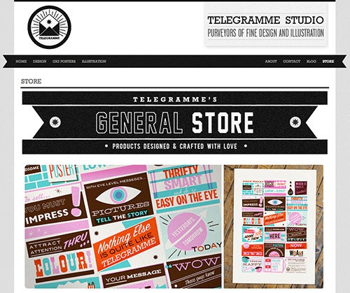 Telegramme-Studio website