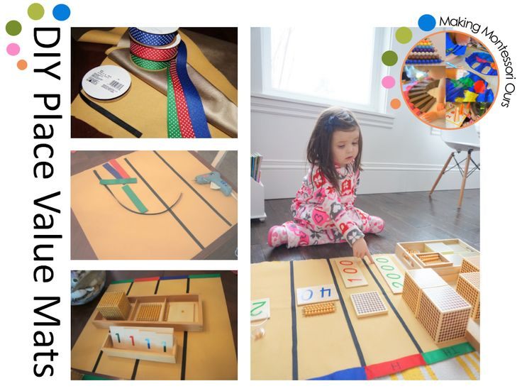 """""""Making Montessori Ours"""": DIY Montessori Golden Place Value / Operations Working Mats"""
