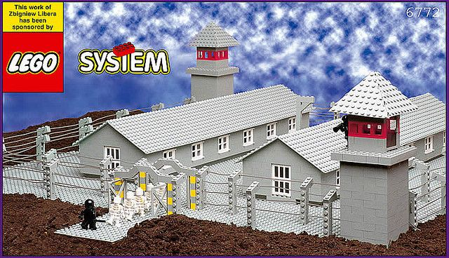 LEGO Concentration Camp by a Polish artist Zbigniew Libera     #Poland #Polish_artists #Zbigniew_Libera