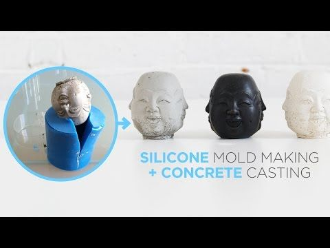 HomeMade Modern EP44 Silicone Mold Making + Concrete Casting